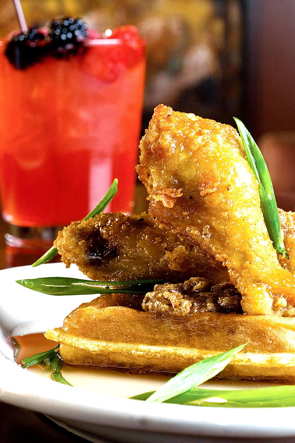 Cornbread Waffles & Chicken - Fresh On The Menu Recipe