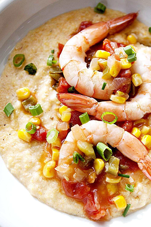 Blue Marlin Shrimp and Grits - Fresh On The Menu Recipe
