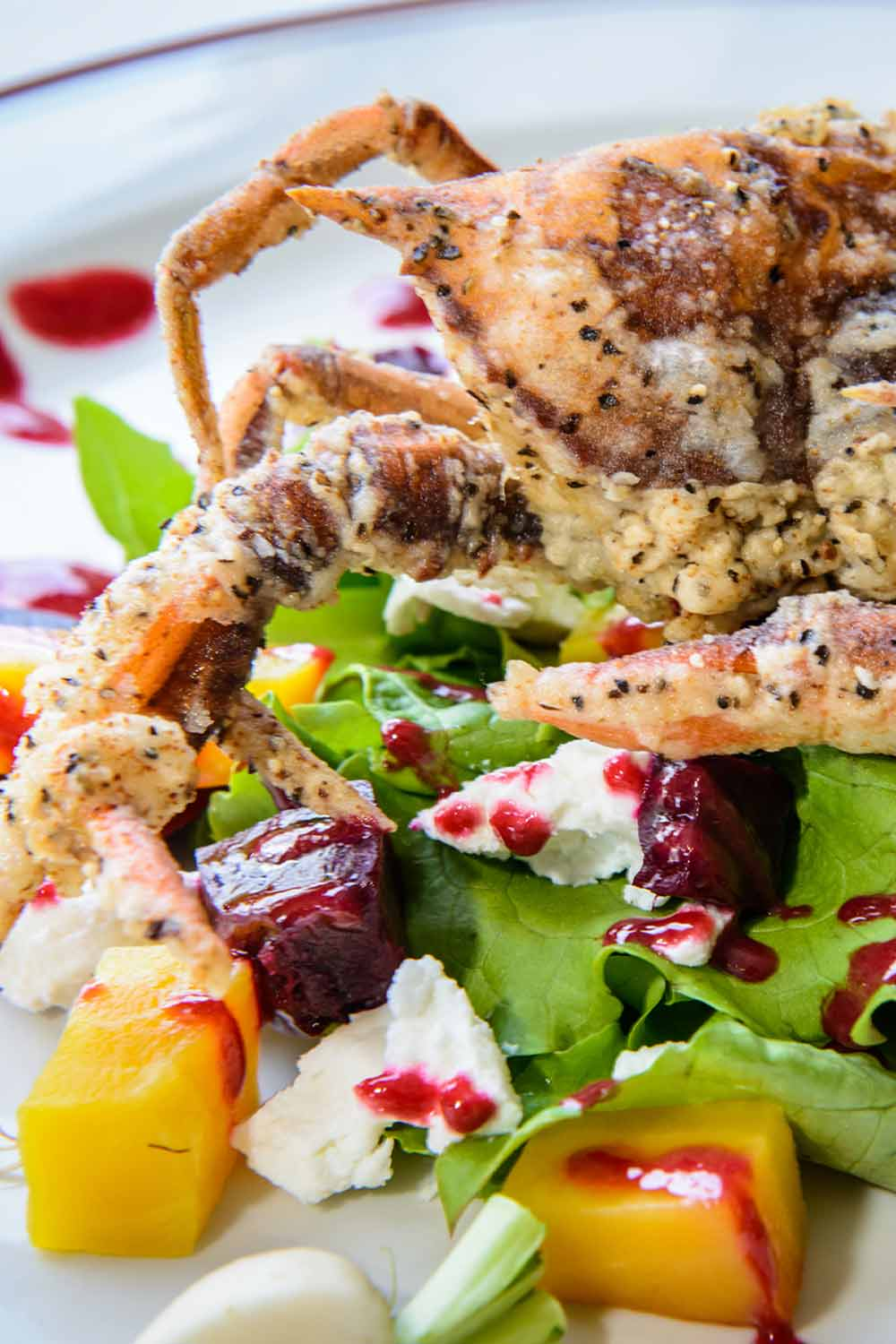 Beet Salad With Sauteed Soft Shell Crab - Fresh On The Menu Recipe