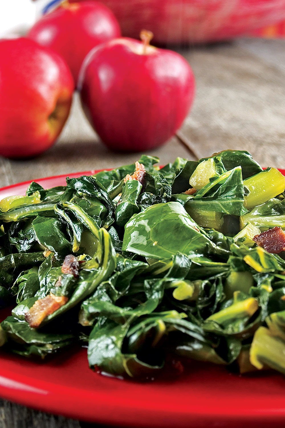Collard Greens With Bacon - Fresh On The Menu Recipe
