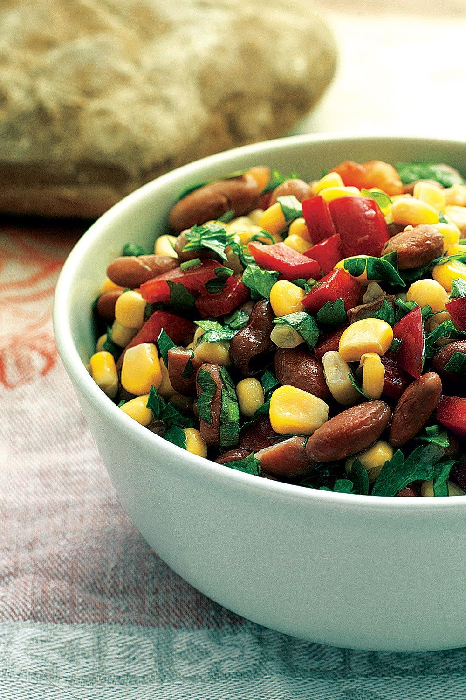 Roasted Tomato, Corn and Boiled Peanut Salad - Fresh On The Menu Recipe