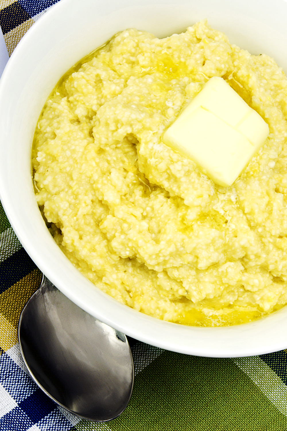 Creamy Speckled Heart Grits - Fresh On The Menu Recipe