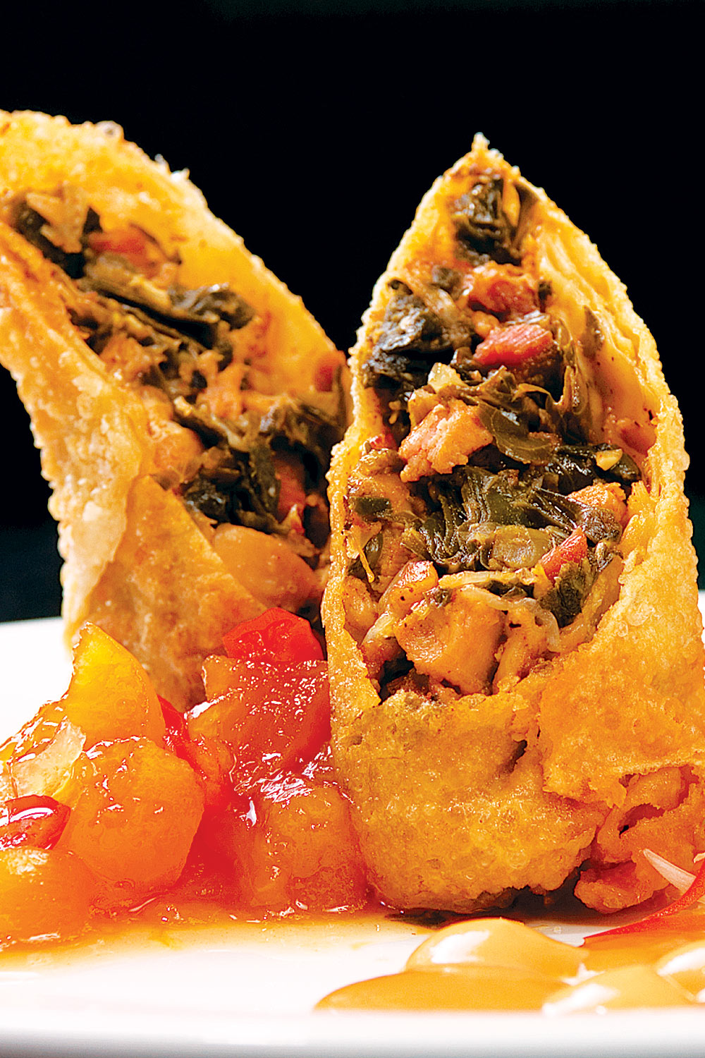Egg Rolls with Red Pepper Sauce - Fresh On The Menu Recipe