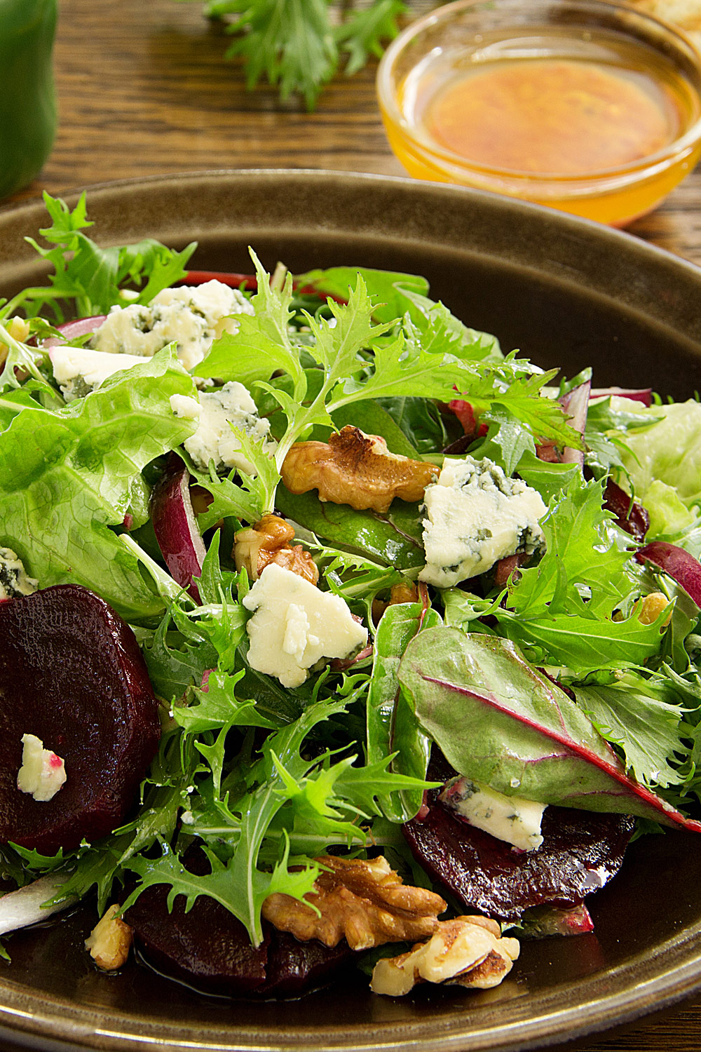City Roots Baby Green Salad with Marinated Beets and Rutabagas - Fresh On The Menu Recipe