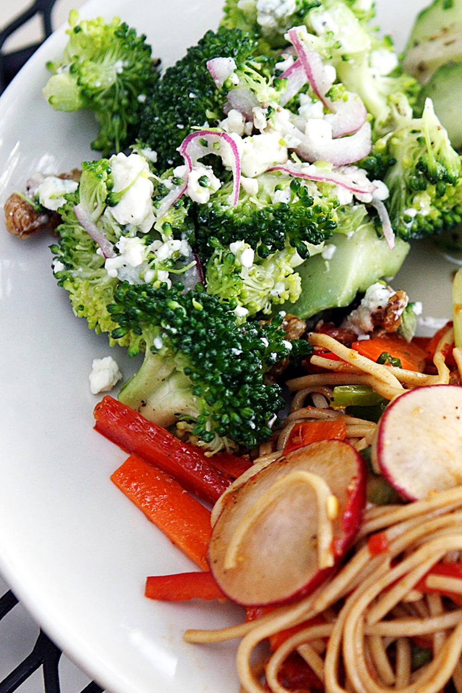 Local Broccoli, Walnut & Blue Cheese Salad - Fresh On The Menu Recipe