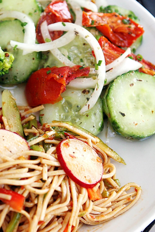 Local Cucumber & Tomato Salad - Fresh On The Menu Recipe