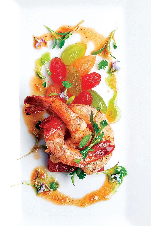 Summer Melon Salad with Local Shrimp - Fresh On The Menu Recipe