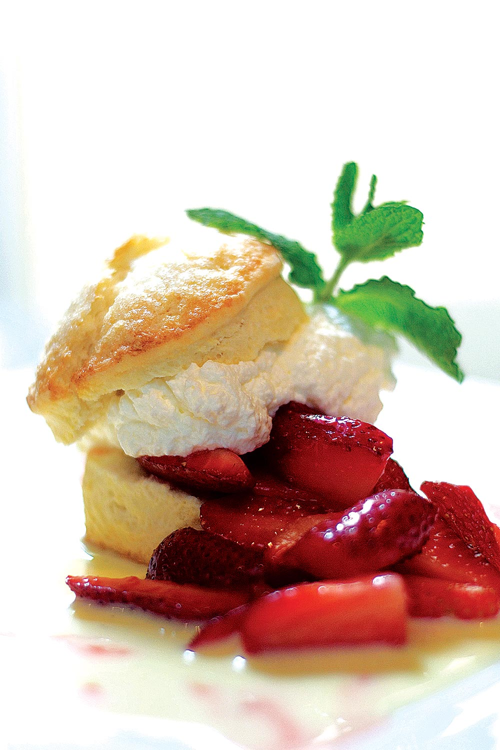 Sweet Biscuit with Fresh Strawberries - Fresh On The Menu Recipe