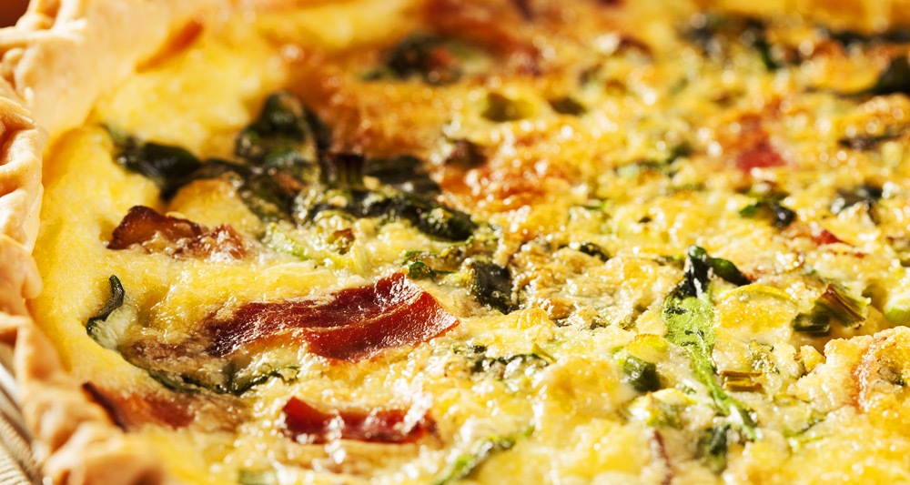 Kale and Bacon Quiche - Fresh On The Menu Recipe
