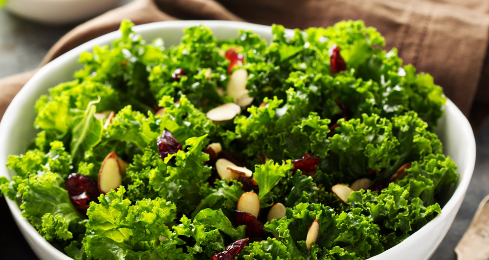 Certified SC Kale Salad with Cranberry Vinaigrette - Fresh On The Menu Recipe