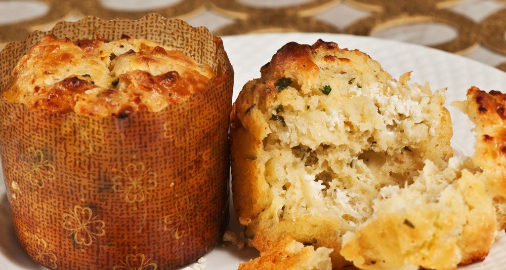 Radish and Goat Cheese Muffins - Fresh On The Menu Recipe
