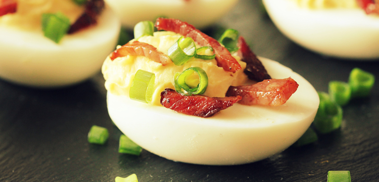 Bacon Jalapeño Deviled Eggs - Fresh On The Menu Recipe