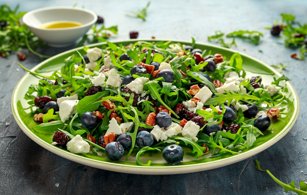 Blueberry Feta Salad - Fresh On The Menu Recipe