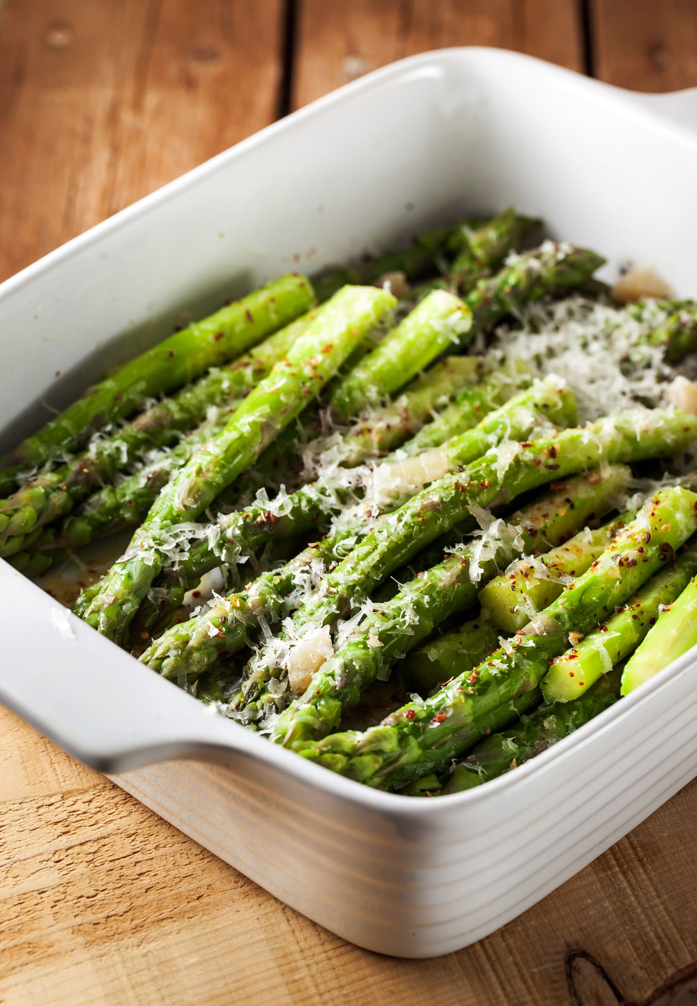 Garlic Parmesan Roasted Asparagus - Fresh On The Menu Recipe
