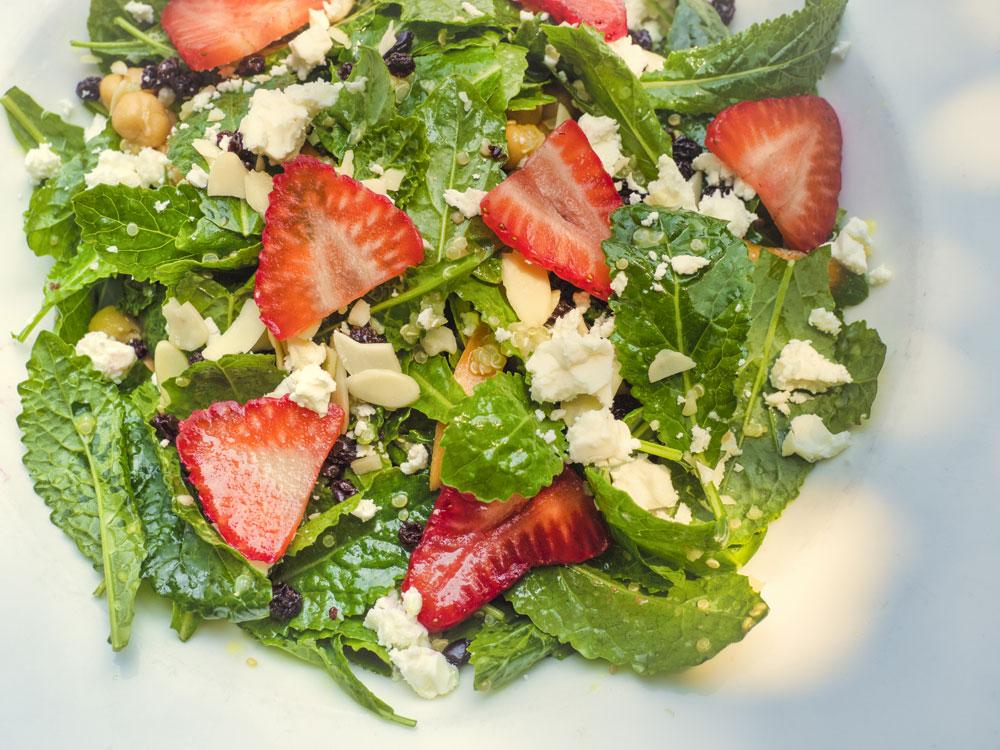 Strawberry Kale Salad - Fresh On The Menu Recipe
