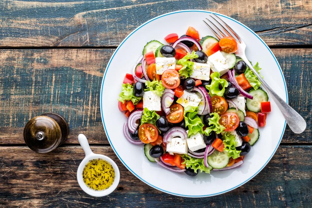 Cucumber Greek Salad - Fresh On The Menu Recipe