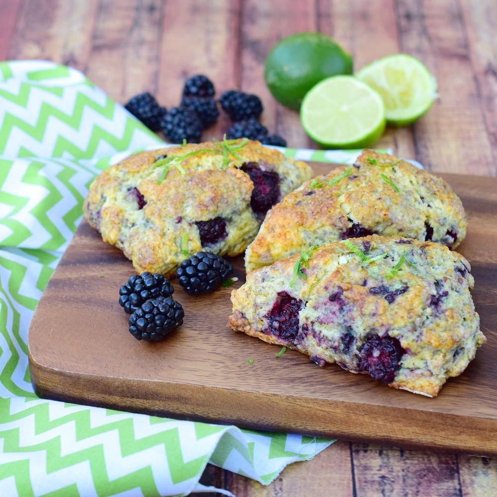 Blackberry Lime Scones - Fresh On The Menu Recipe